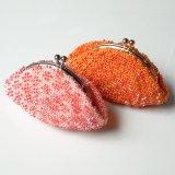 ビーズ編み財布:パターン柄2色【7.5cm丸口金】