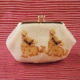 ビーズ編み財布【全面ビーズ】チワワ