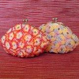 ビーズ編み財布:リング柄2色【7.5cm丸】