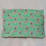ビーズ編み財布/ペイズリー柄のポシェット
