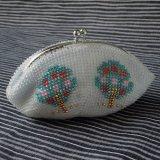 ビーズ編み財布【全面ビーズ】りんごの木