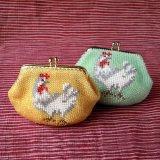 ビーズ編み財布【干支:とり】カラー2種類